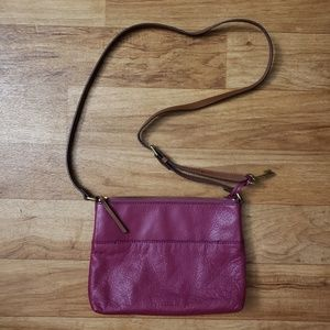 Fossil Pebble Leather Crossbody Bag
